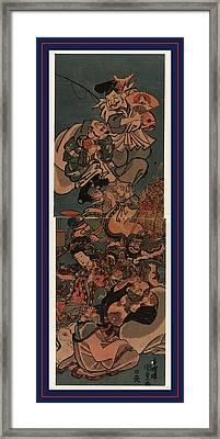 Shichifukujin, The Seven Gods Of Good Luck. Between 1830 Framed Print