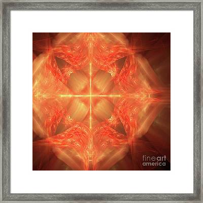 Framed Print featuring the digital art Shield Of Faith by Margie Chapman