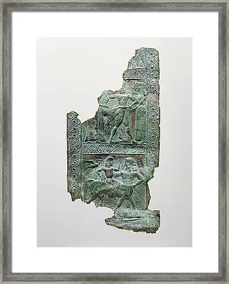 Shield Strap Fragment Signed By Aristodamos Of Argos Framed Print by Litz Collection