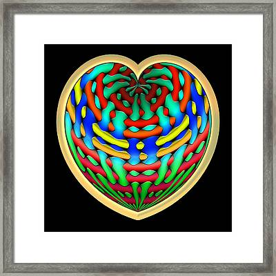 Shielded - Gold Framed Print by Wendy J St Christopher