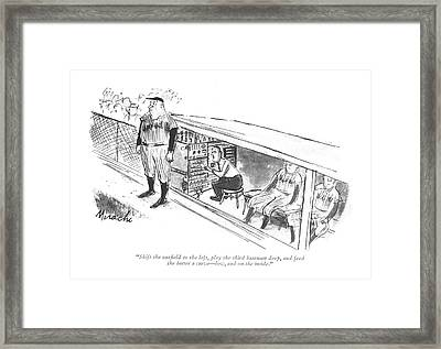 Shift The Out?eld To The Left Framed Print