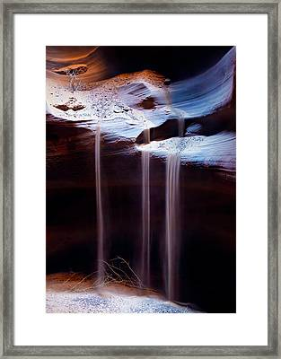 Shifting Sands Framed Print by Dave Bowman