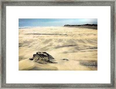 Shifting Sands On Ocracoke Outer Banks Framed Print by Dan Carmichael