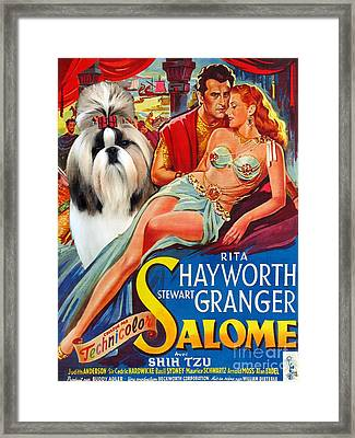 Shih Tzu Art Canvas Print - Salome Movie Poster Framed Print