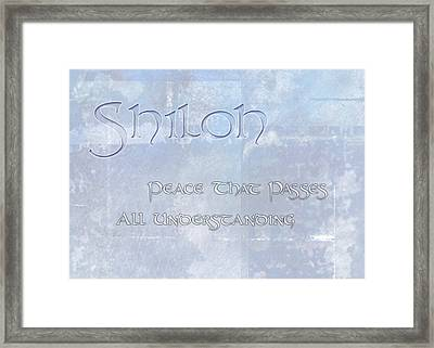 Shiloh - Peace That Passes Understanding. Framed Print by Christopher Gaston