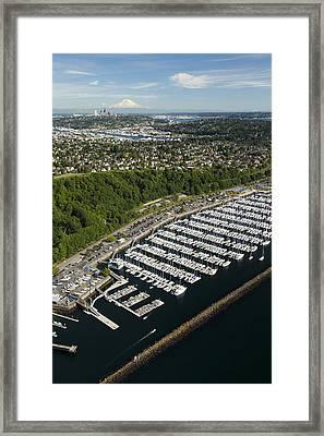 Shilshole Bay Marina On Puget Sound Framed Print by Andrew Buchanan/SLP