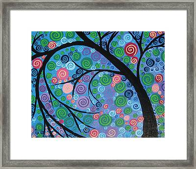 Shimmer Tree Framed Print by Cathy Jacobs