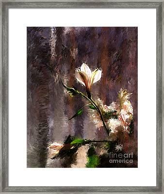 Shimmering Bouquet Framed Print