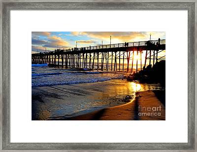 Shimmering Pier Framed Print