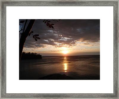 Framed Print featuring the photograph Shimmering Sunrise by James Peterson