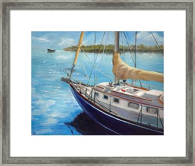 Shimmering Water Framed Print by Jolyn Kuhn