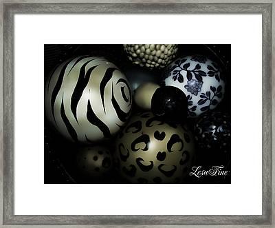 Shimmery Spheres Framed Print by Lesa Fine