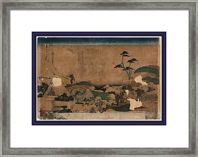 Shimo-meguro, Lower Meguro. 1832 Or 1833 Framed Print by Hokusai, Katsushika (1760-1849), Japanese