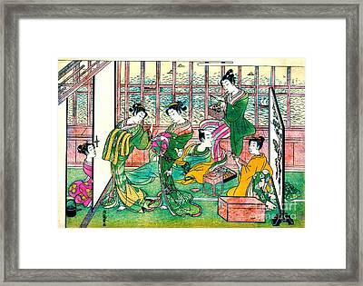 Shinagawa Brothel 1774 Framed Print by Padre Art