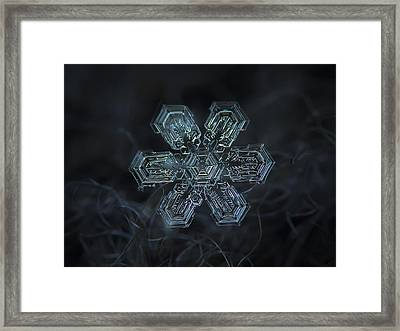 Framed Print featuring the photograph Snowflake Photo - Shine by Alexey Kljatov
