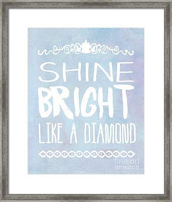 Shine Bright Blue Framed Print by Pati Photography