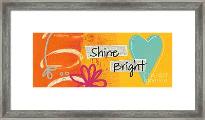 Shine Bright Framed Print by Linda Woods