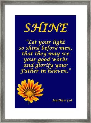 Shine Christian Poster Framed Print