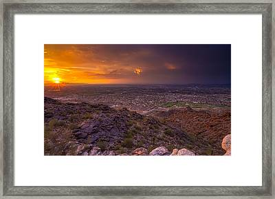 Shine Down Framed Print by Stacy LeClair