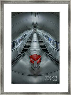 Shine In Silver Framed Print