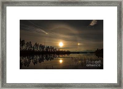 Framed Print featuring the photograph shine like a Halo by Rose-Maries Pictures