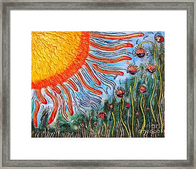 Shine On Me.. Framed Print by Jolanta Anna Karolska