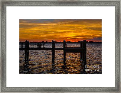 Shine On Liquid Gold Framed Print by Rene Triay Photography