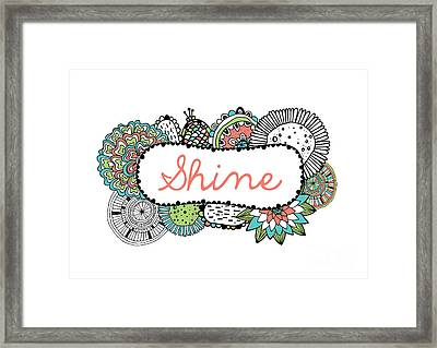 Shine Part 2 Framed Print by Susan Claire