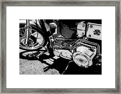 Shines On - 100th Anniversary Harley Davidson Framed Print
