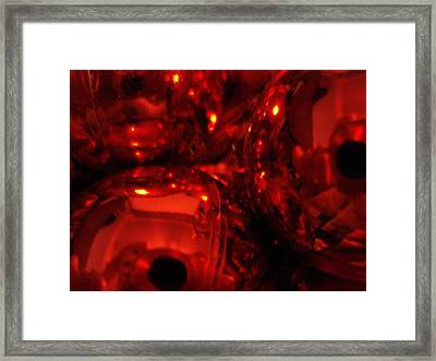Shiney Red Ornaments One Framed Print