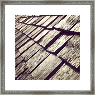 Shingles Framed Print by Christy Beckwith