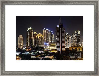 Shining Jakarta Framed Print by Asiadreamphoto