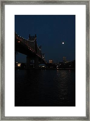 Shining Moon Framed Print