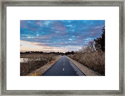 Shining Sea Bikeway Framed Print