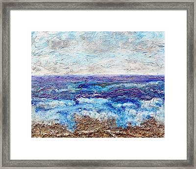 Shining Sea Framed Print by Regina Valluzzi
