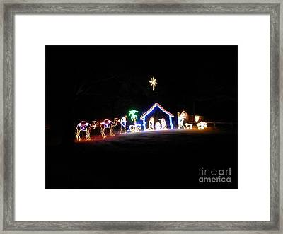 Shining Star Of Bethlaham Framed Print by Angelia Hodges Clay