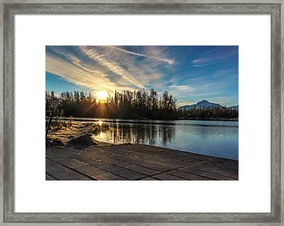Shining Sunrise Framed Print by Tyler Olson
