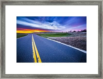 Shinnecock Hills Sunset Framed Print