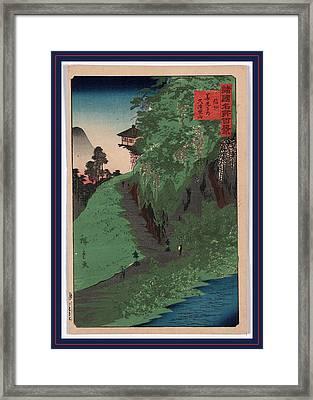 Shinshu Zenkoji Michi Kusuri Yama Framed Print by Utagawa Hiroshige Also And? Hiroshige (1797-1858), Japanese