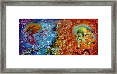 Shinto Gods Framed Print by Luis  Navarro
