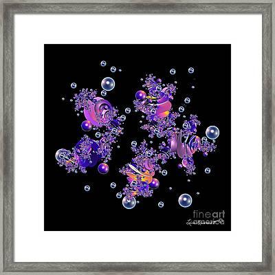Shiny Bubbles Framed Print by Leona Arsenault