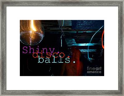Shiny Disco Balls Framed Print by Corey Garcia