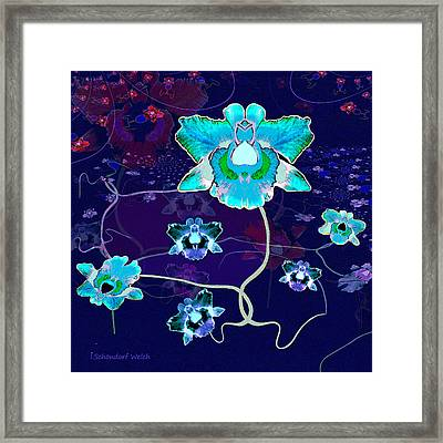 Shiny Flowers Of Fantasy  - 620 Framed Print