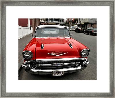 Shiny Red Chevrolet Framed Print