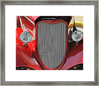 Shiny Red Framed Print