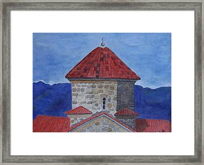 Shio Mgvime Monastery In Rep. Of Georgia Framed Print