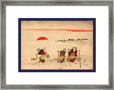 Shiokumi, Salt Gathering. 181-, 1 Print  Woodcut Framed Print