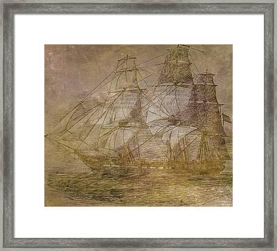 Ship 3 Framed Print