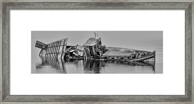 Framed Print featuring the photograph Ship Aground by Timothy Latta