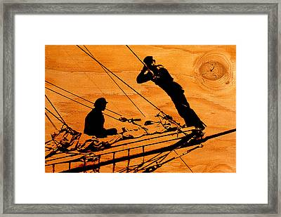 Framed Print featuring the photograph Ship Ahoy by Mike Flynn